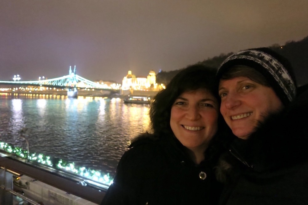 Sue and Diana in Budapest