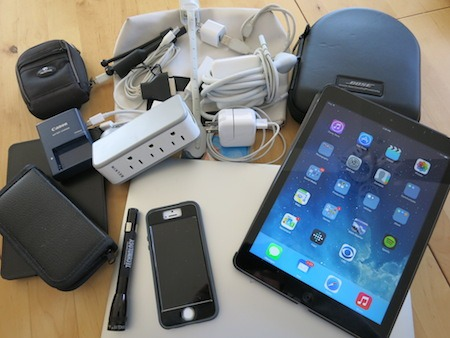 So many gadgets to pack!