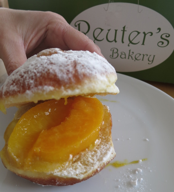 Peach Paczki Open from Reuters Bakery Food Travelist