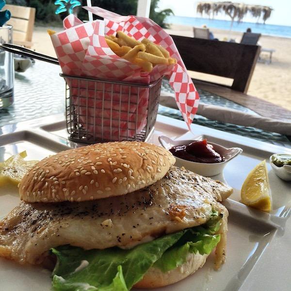 Grouper Sandwich at Crissly Beach