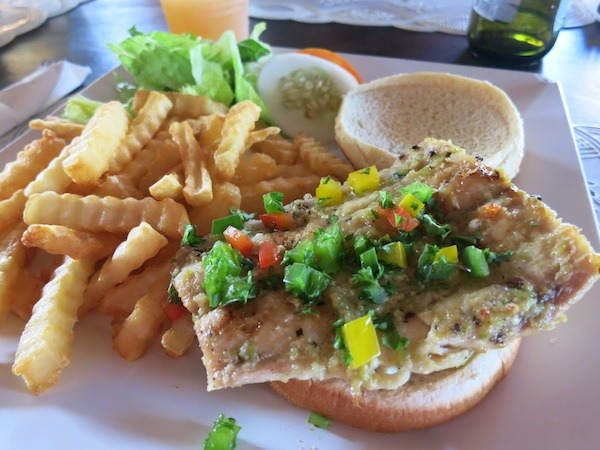 Mahi Mahi Sandwich At Sunshine's in Nevis.