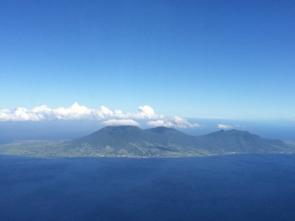 Approaching Nevis from the Air