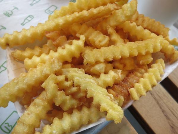 Crispy golden crinkle-fries.