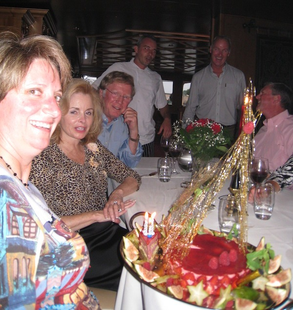 Birthday celebration on the France Barge Cruise