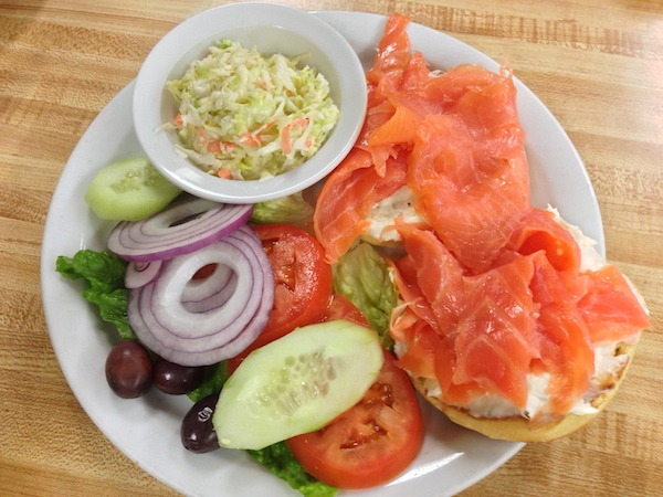 Lox Platter at Mort's Deli in Los Angeles