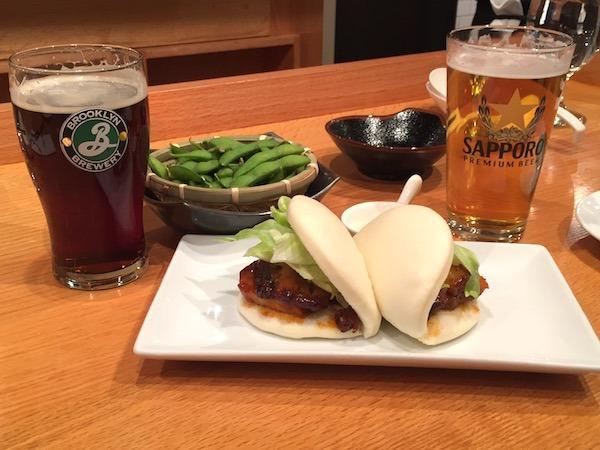 Japanese Pork Buns and Edamame