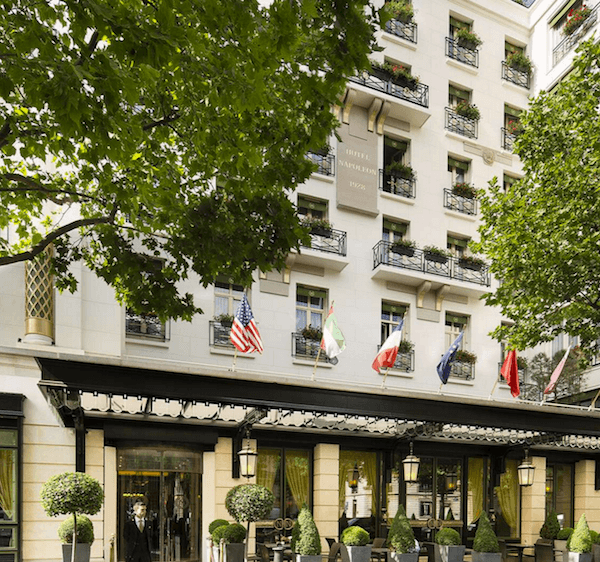 Entrance Hotel Napoleon Paris 5 Star Luxury Hotel Napoleon Paris