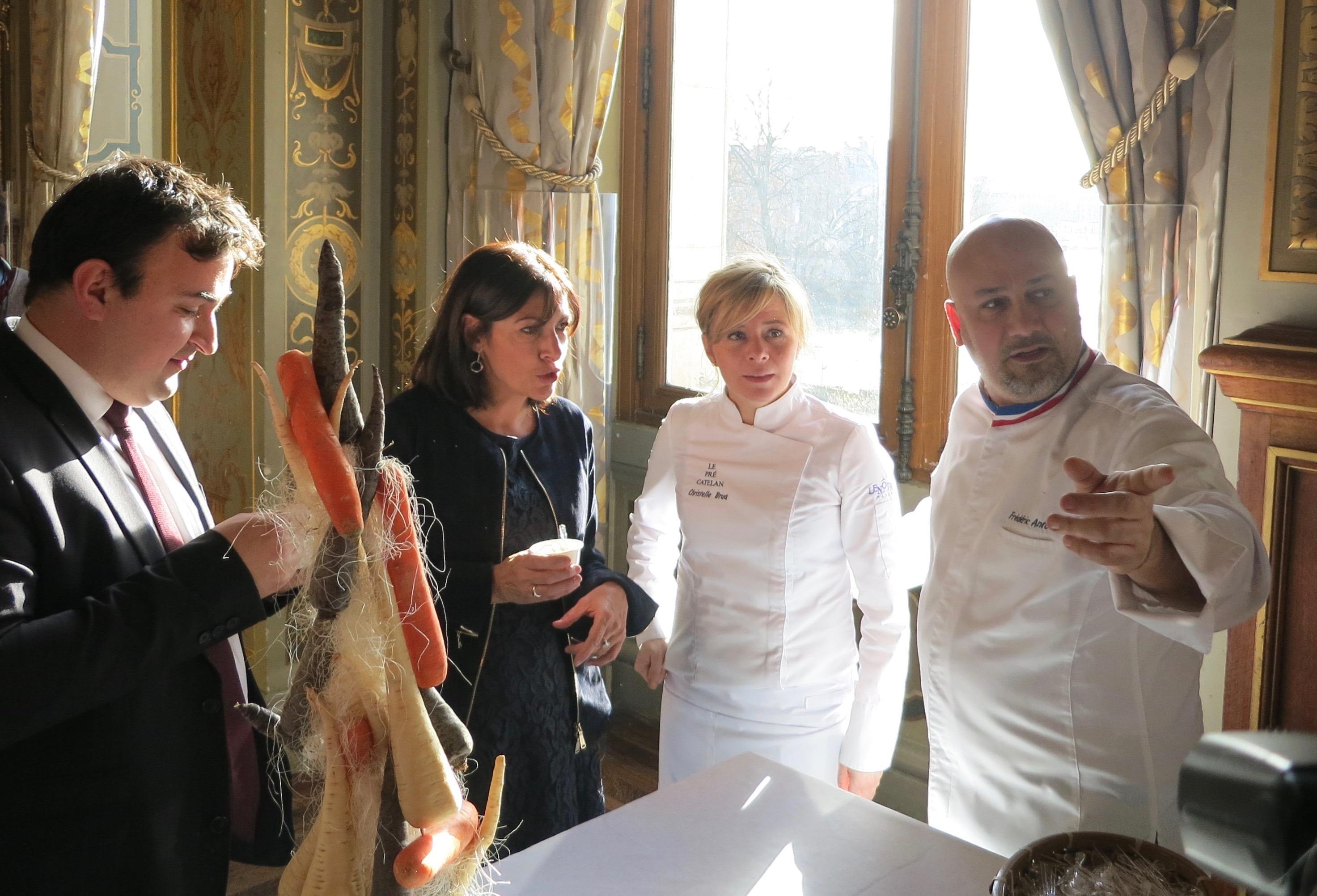 Paris Mayor Anne Hildago Meeting the Chefs