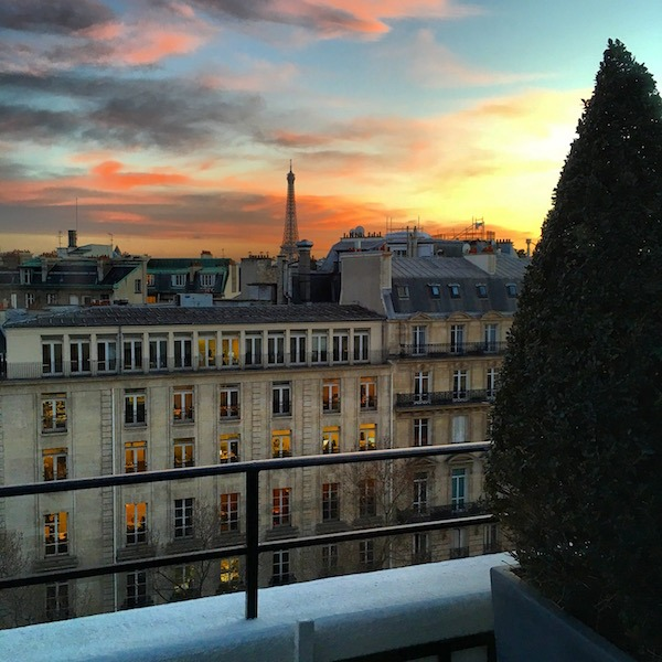 Sunset View from Junior Suite at Hotel Napoleon Food Travelist