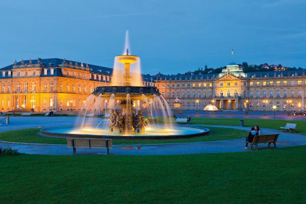 Neues Schloss, Schlossplatz, Stuttgart, Baden-Württemberg, Deutschland