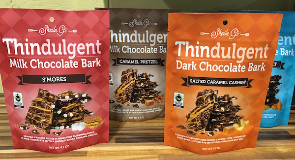 Sheila G's Thindulgent Bark travel snacks