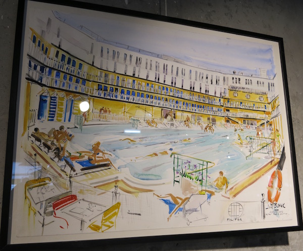 Hotel Moliter Artwork of Pool Paris