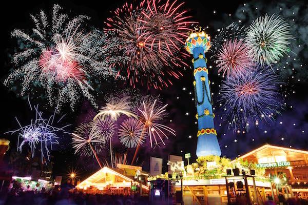 Fireworks at Stuttgart Canstatter Festival