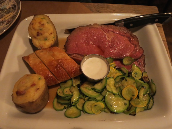 Prime Rib at Wolf Peach Milwaukee