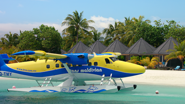 Landing in the Maldives Living in the age of airplanes