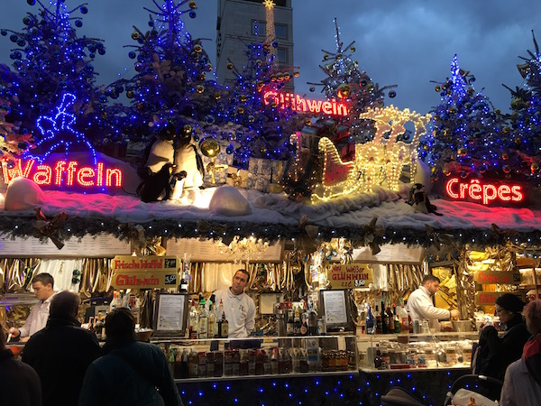 Beautifully decorated rooftops at the Stuttgart Christmas Market.
