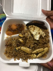 places to eat in St. Croix: Crab Rice at St. Croix AgriFest