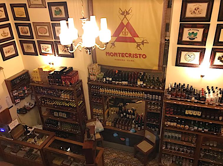 Cienfuegos rum and cigar shop