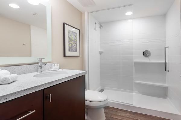 Safe comfortable bathroom.