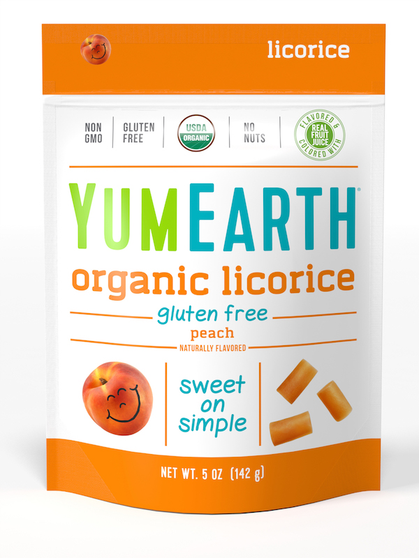 YumEarth Organic Licorice Peach