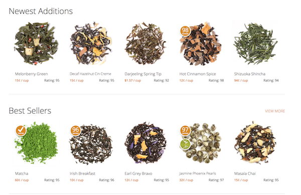 Adagio Tea Website