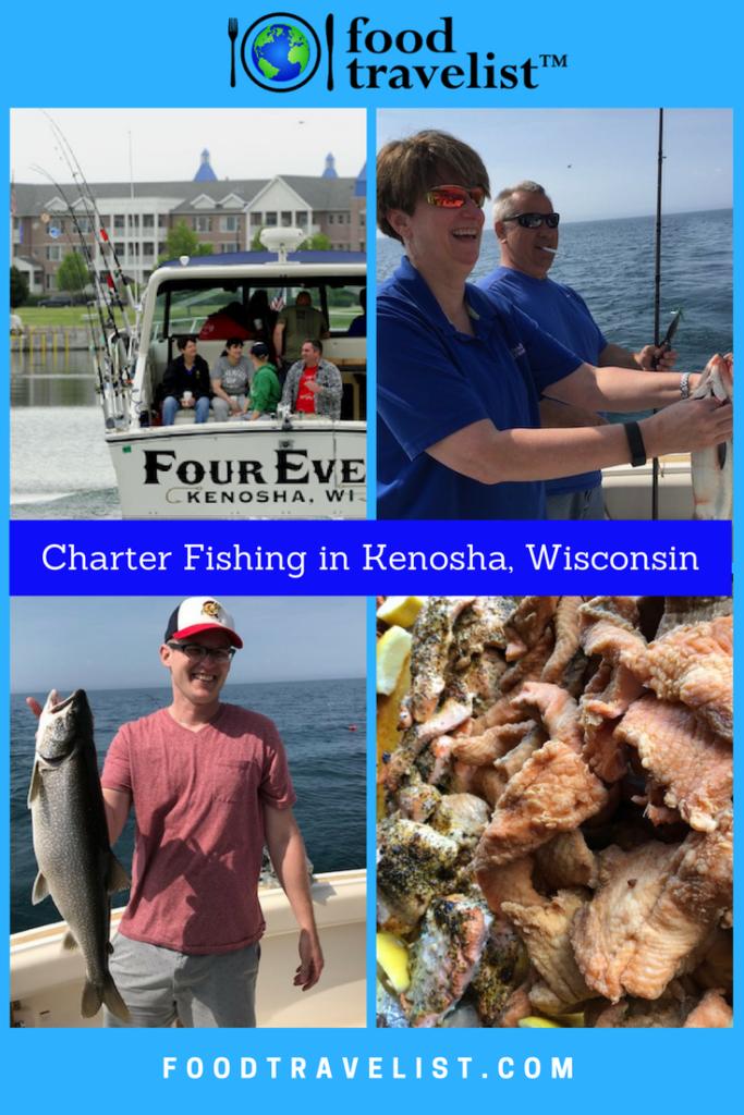 Charter Fishing in Kenosha Wisconsin Pinterest Graphic