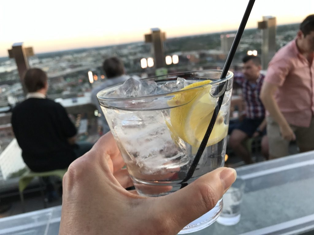 Cheers from the Hilton Rooftop St. Louis Downtown