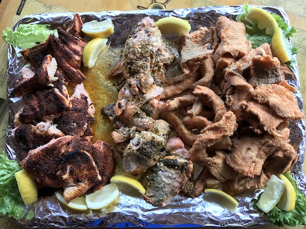 Fresh Fish Cooked at The Boathouse