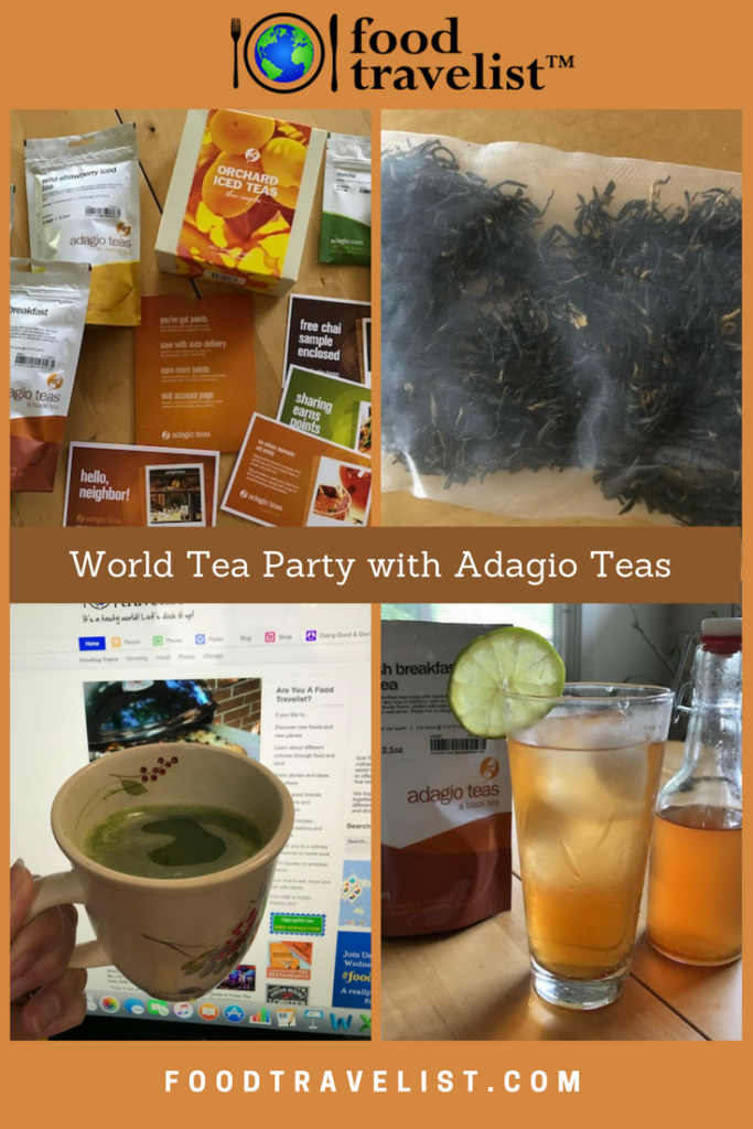 World Tea Party with Adagio Teas Pin Food Travelist
