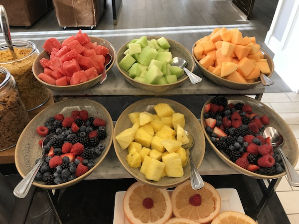 Breakfast fruit at the Fairmont Washington DC