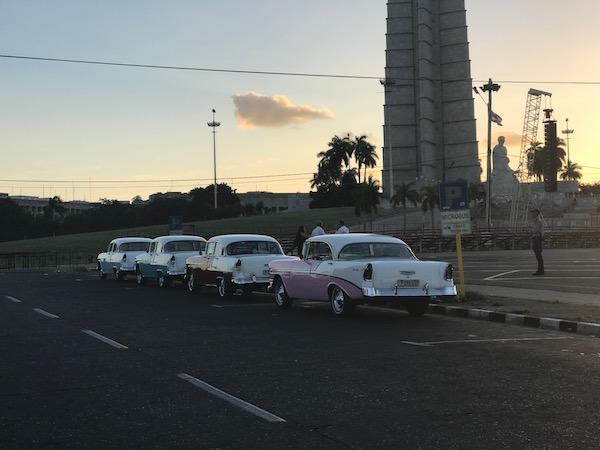 Vintage American cars in Cuba.