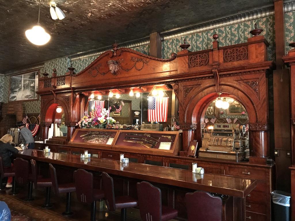 Bar from Queen Elizabeth at the Irma Bar Cody