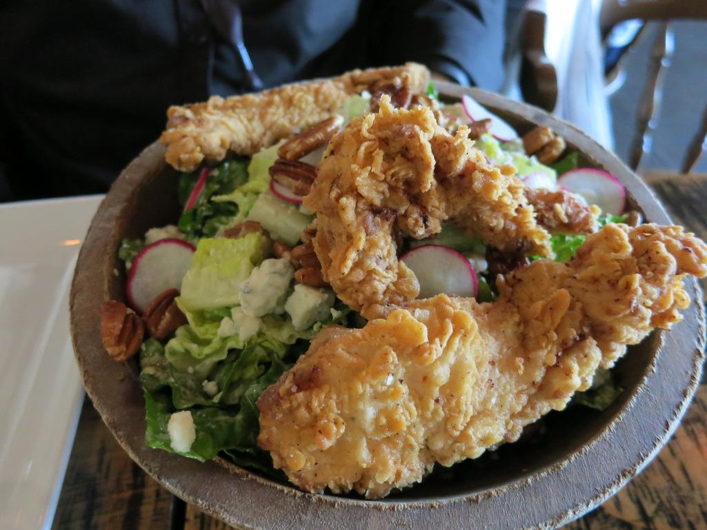 Fried chicken salad at Stillwaters Tavern in St. Petersburg Florida