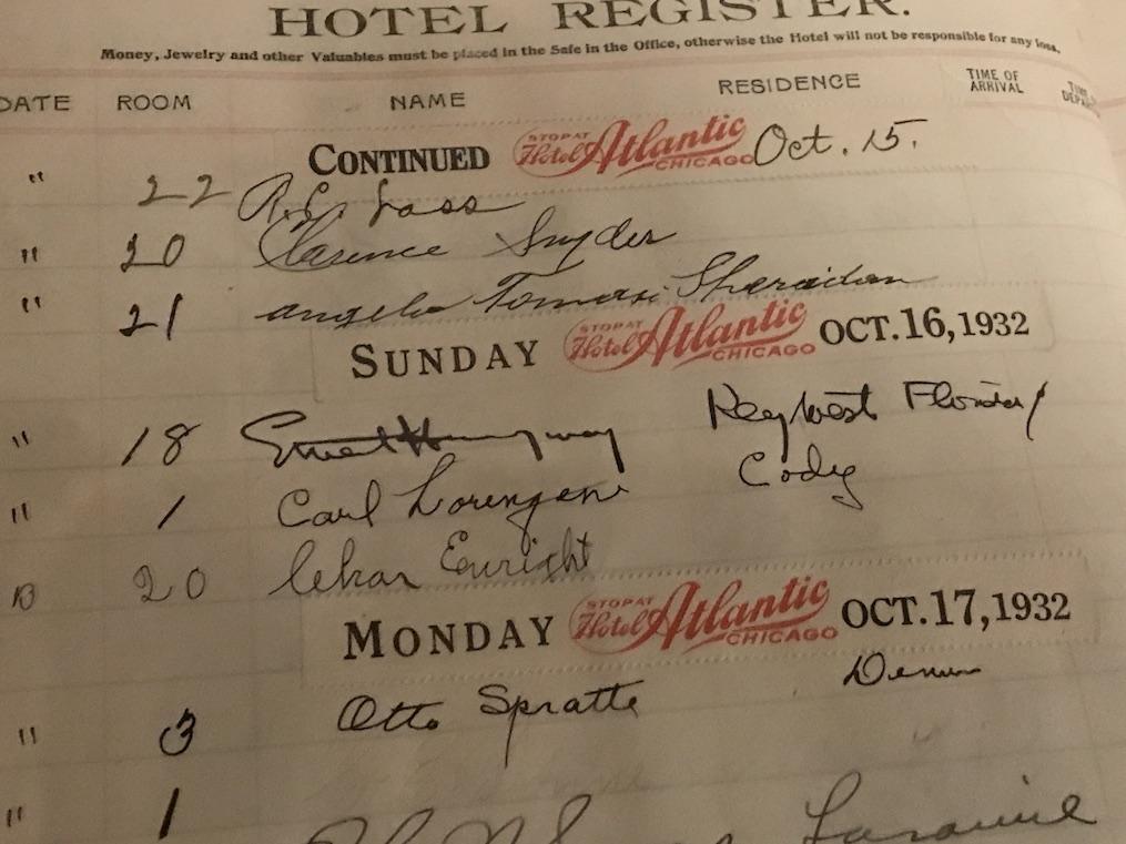Irma Hotel Cody Ernest Hemingway Signature