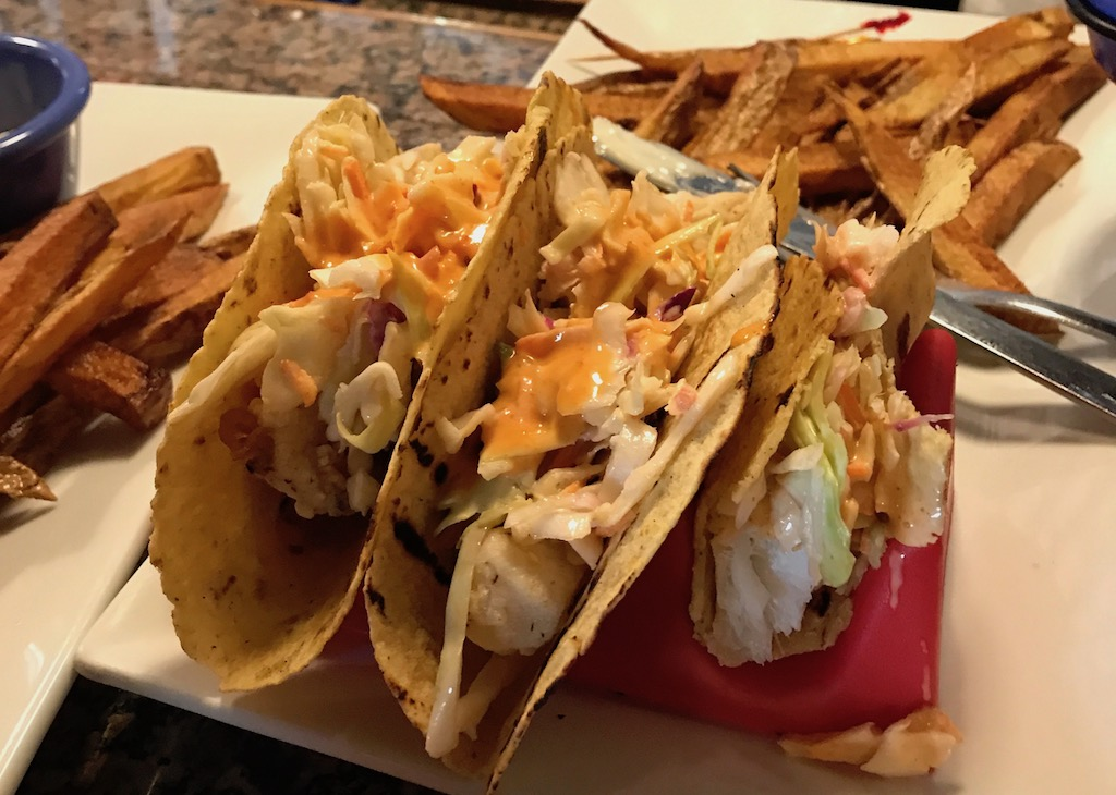 Fish Tacos at Neptunes Brewery Livingston Montana