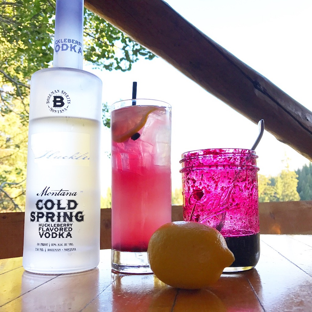 Huckleberry Cocktail at Lone Mountain Ranch