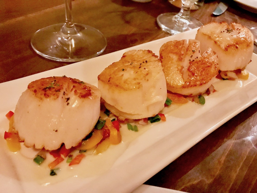 Scallops at Chico Hot Springs and Day Spa