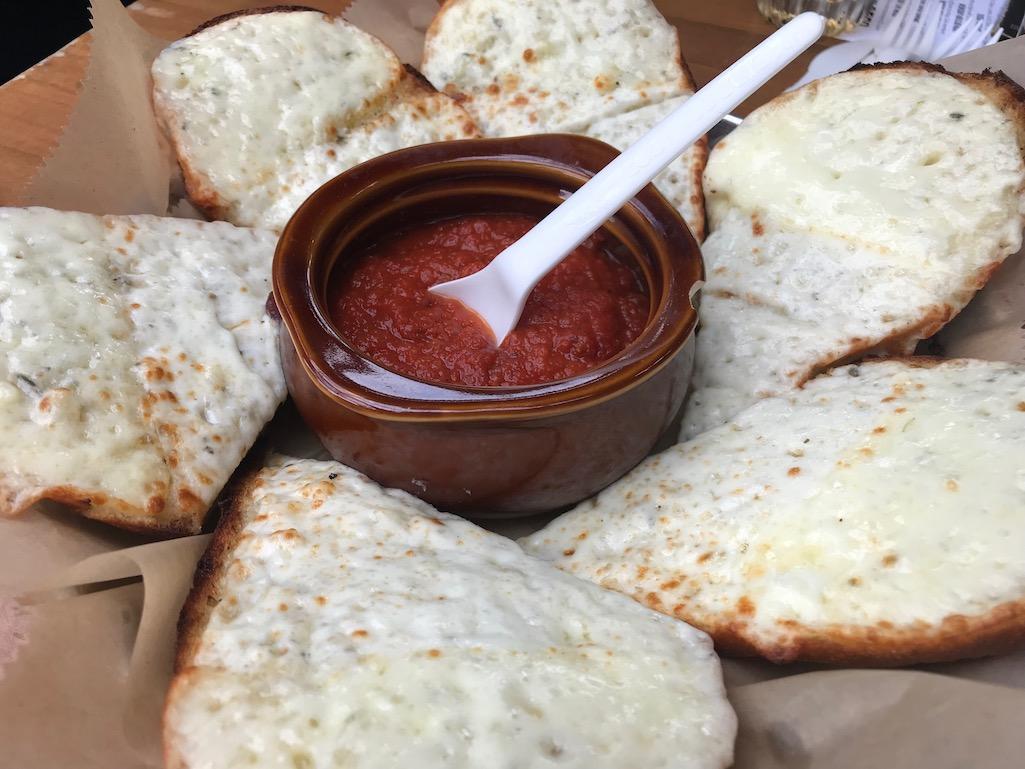 Founders Brewery Cheesy Garlic Bread