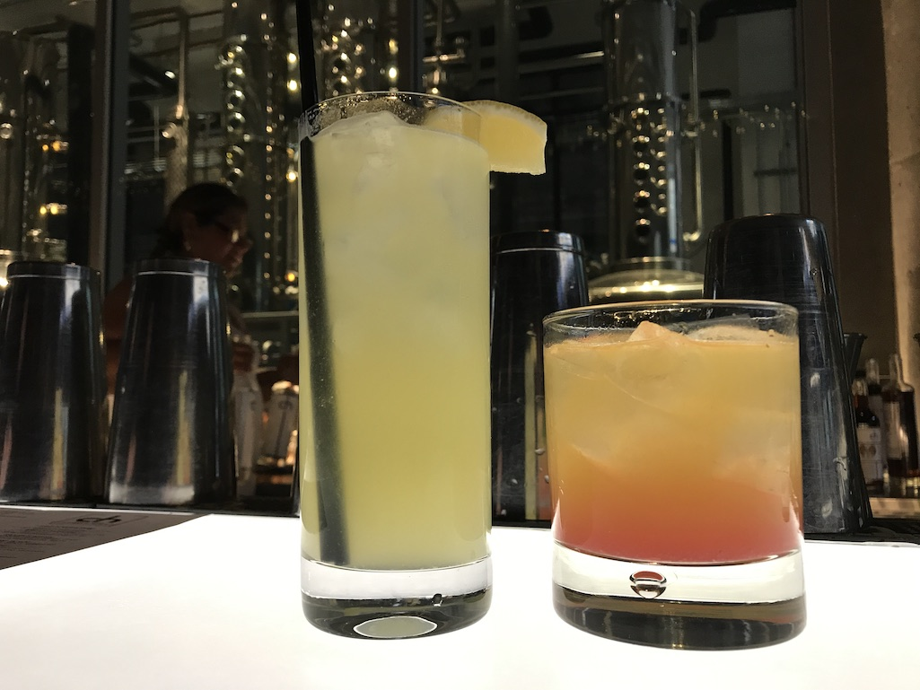 Cocktails at CH Distillery on the bar