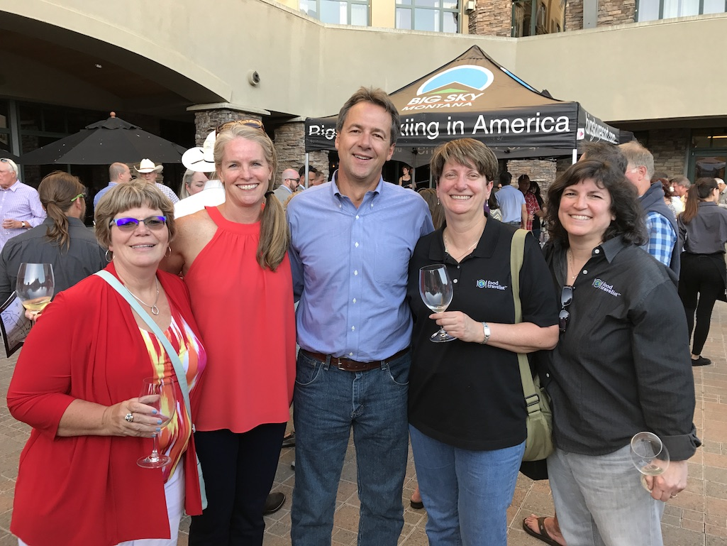 Food Travelists Meeting Governor Bullock and his Lisa and. Robin Hoover of Yellowstone County