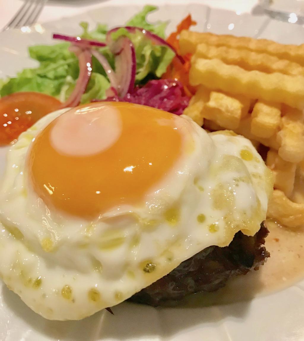 Hamburger at Restarant O Convite Fatima Portugal