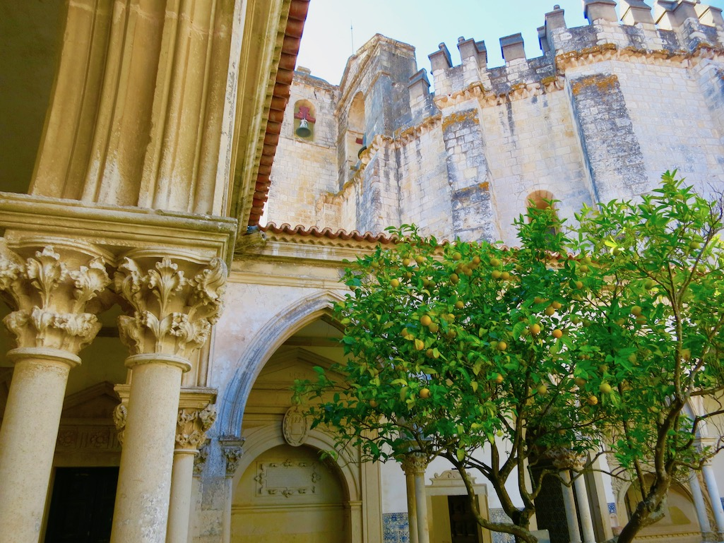 Lemon Trees in the Courtyard of Convento of Cristo Tomar