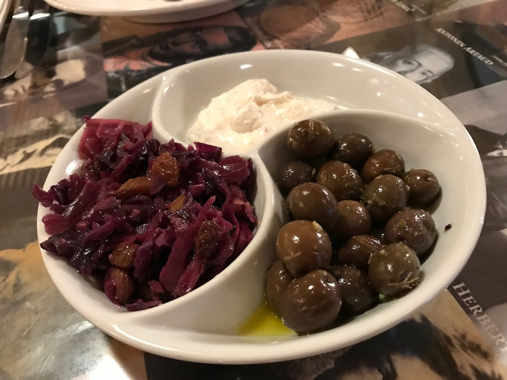 Starters at the Literary Man in Obidos Portugal