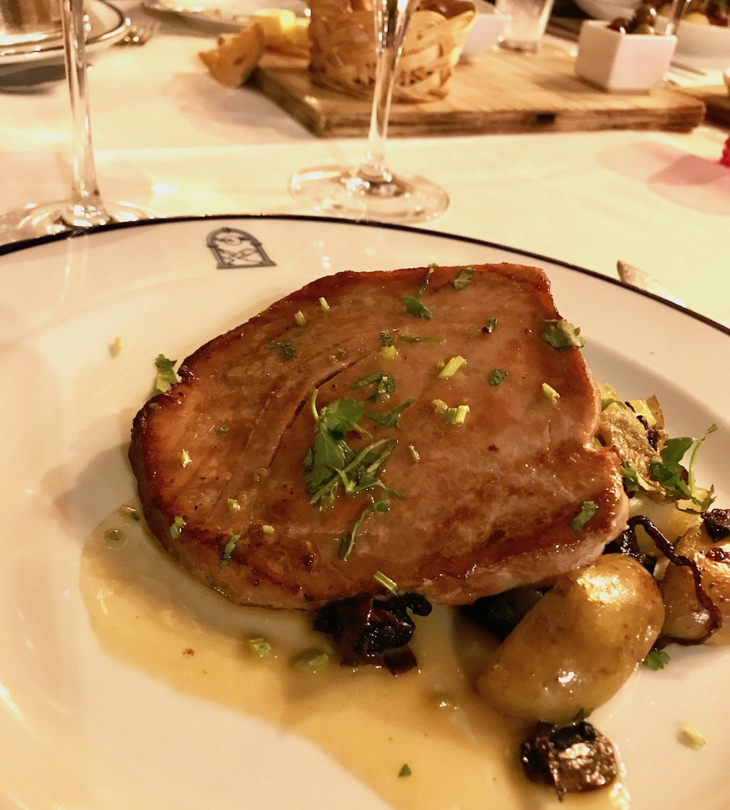 Tuna Steak at Pousado do Castelo Obidos Portugal