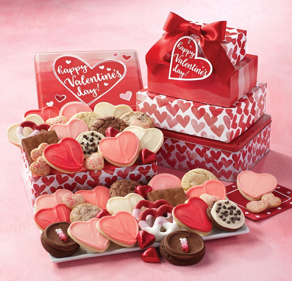 heryl's Cookies_Valentine's Day Gift Tin Tower